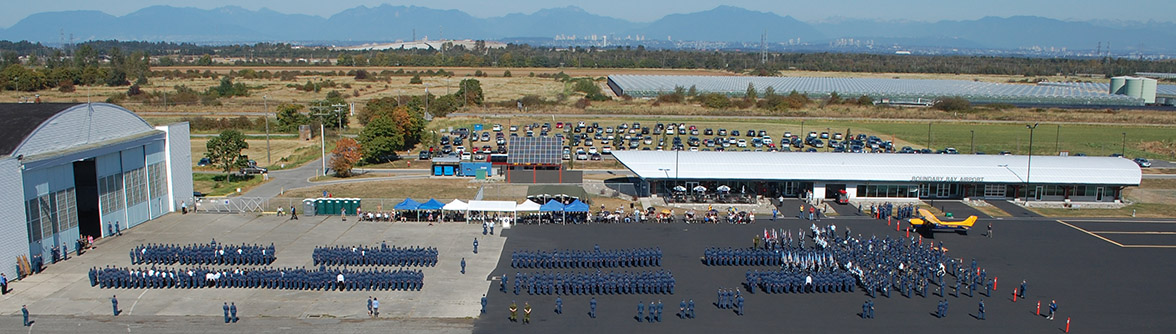 BC Air Cadets parade - aerial view