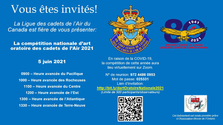 La competition nationale d'art oratoire des cadets de l'Air 2021